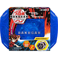 Игровой набор Кейс-бокс для хранения Бакуган (Синий) + Герой фигурка Baukugan