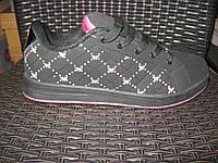 Кросівки Classica чорно/рожеві метелики. Арт № 0024
