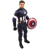 Фигурка супер героя Капитан Америка (32см) (Марвел / Avengers) с подвижными конечностями, фото 2