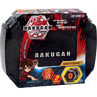 Игровой набор Кейс-бокс для хранения Бакуган (Черный) и Герой фигурка Baukugan