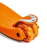 Дитячий чотириколісний самокат Scooter Maxi помаранчевий (світяться колеса) , фото 6