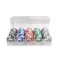 Набор покерных фишек с номиналом 100 шт.