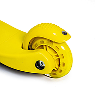 """Дитячий триколісний самокат (світяться колеса) """"Mini Scooter"""" (Жовтий) , фото 3"""