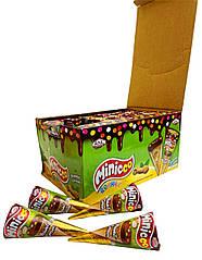 Вафельный рожок Cо вкусом Арахиса Minicco, 25 г (24 шт у коробке)
