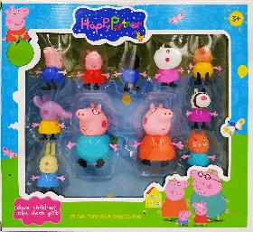 Свинка Пеппа герои Pig Peppa вся семья 11 в 1