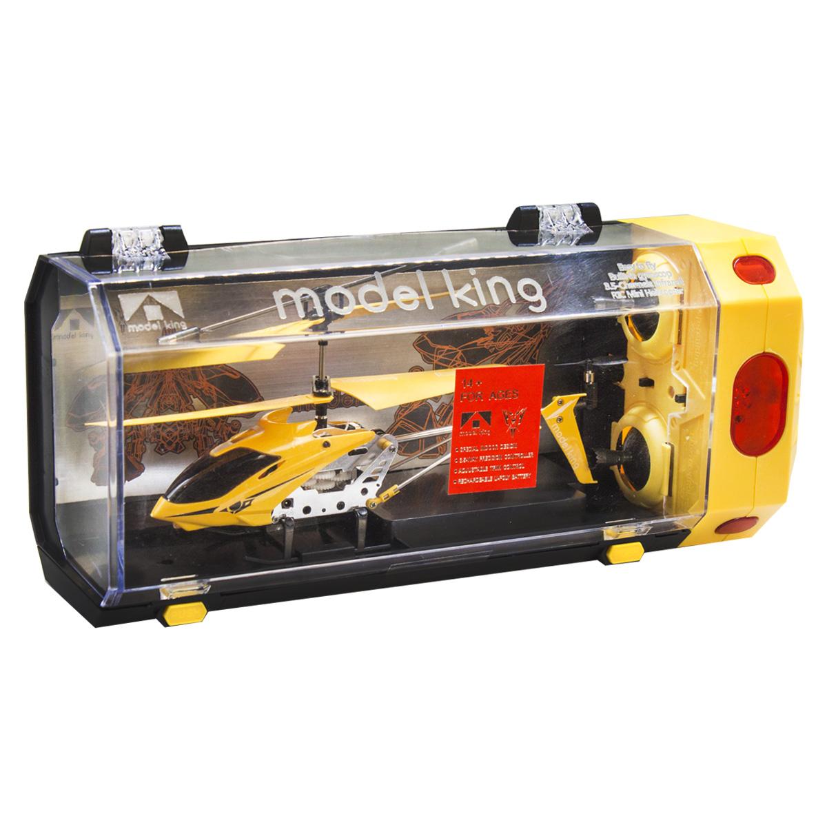 """Вертоліт на радіоуправлінні / пульті управління """"Model King"""" (жовтий)"""