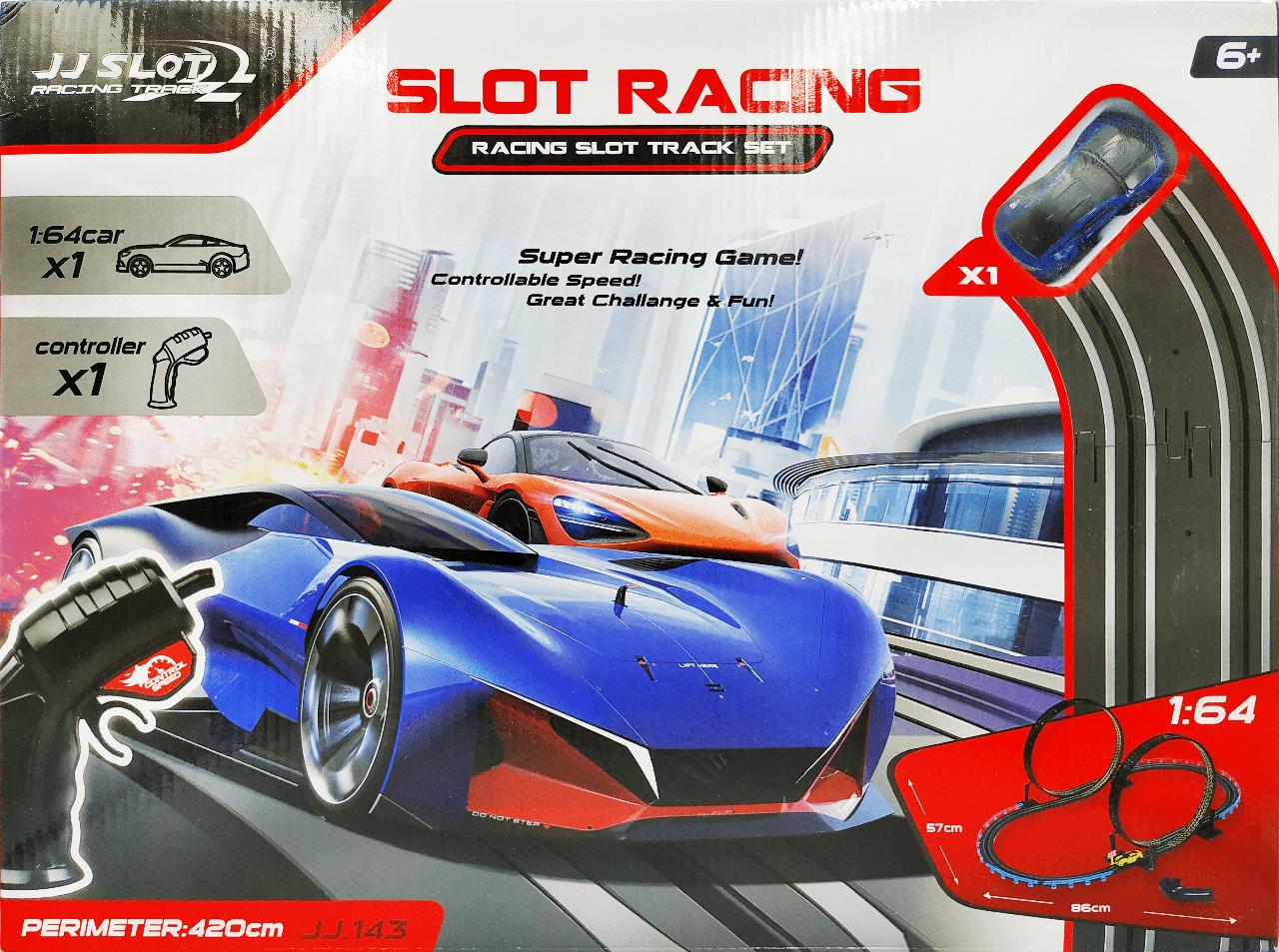 Трек гоночний Slot Racing на пульті управління працює від мережі 220V