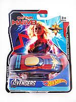 Машинка Hot Wheels Avengers Camptain Marvel Хот Вилс Мстители Капитан Марвел
