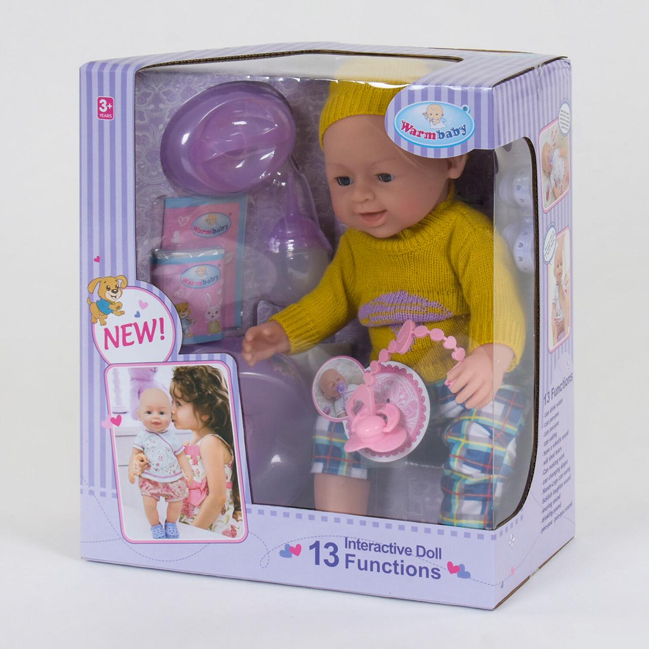 """Лялька Реборн (пупс), дівчинка """"Warm Baby"""" 13 функцій, звукові ефекти, на батарейках вигляд 5"""