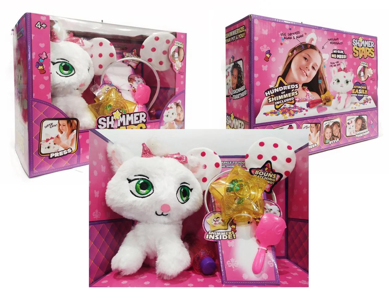 """М'яка інтерактивна іграшка Shimmer stars Кошеня Джеллі з аксесуарами 28 см """"Мовець коте"""""""