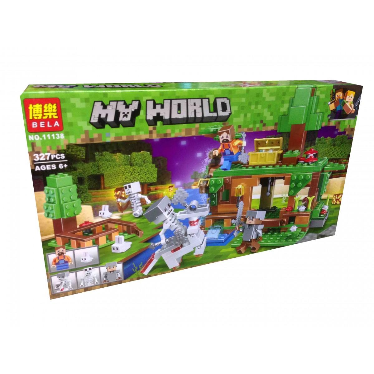 """Конструктор майнкрафт BELA Minecraft """"Битва за скарби"""" 327 деталей"""