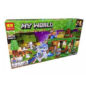 "Конструктор майнкрафт BELA Minecraft ""Битва за сокровища"" 327 деталей"