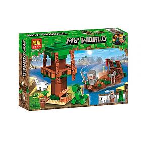 """Конструктор майнкрафт BELA Minecraft """"Путешествие к острову сокровищ на корабле"""" 161 деталь"""