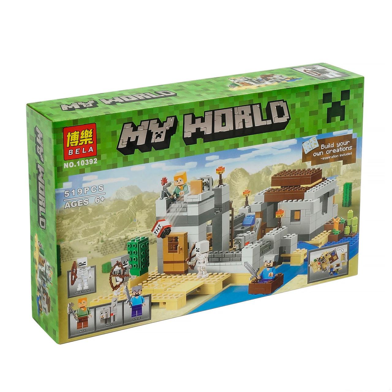 Конструктор майнкрафт Пустынная станция Bela Minecraft 519 деталей