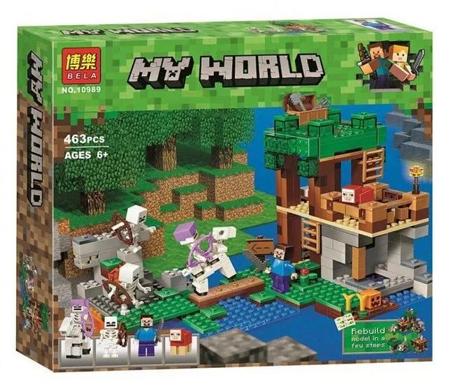 Конструктор майнкрафт Нападение армии скелетов Bela Minecraft 463 детали