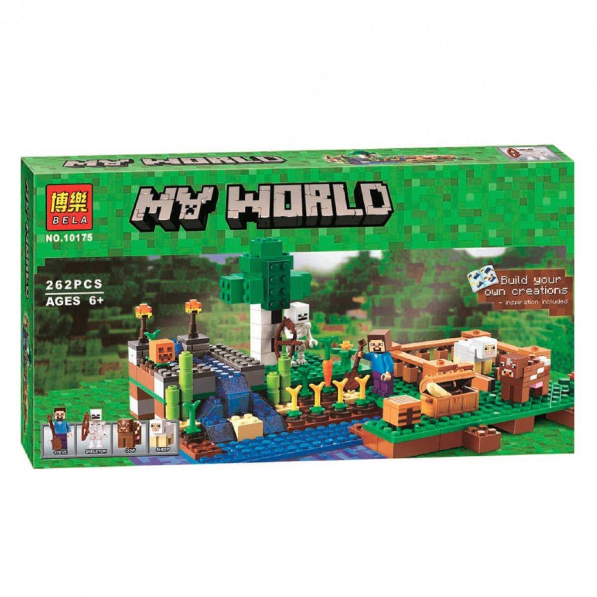Конструктор майнкрафт Ферма Bela Minecraft 262 детали