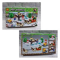 Конструктор майнкрафт  Прогулка на оленях Bela Minecraft 375 деталей , фото 2