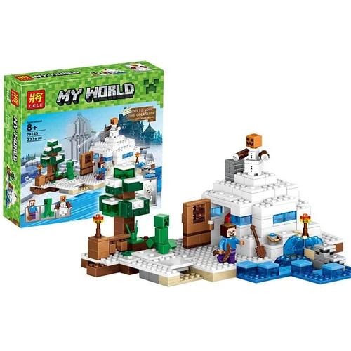 Конструктор майнкрафт Снежное убежище Bela Minecraft 327 деталей