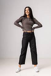 Черные прямые джинсы  со средней  посадкой в размерах: S, M, L, XL.