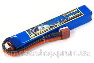 Аккумулятор для страйкбола Giant Power (Dinogy) Li-Pol 7.4V 2S 2000mAh 25C 20х21х126мм T-Plug