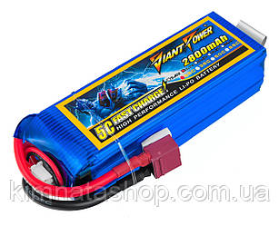 Аккумулятор Giant Power (Dinogy) Li-Pol 2800mAh 11.1V 3S 25C 28x35x104мм T-Plug