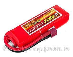 Акумулятор Dinogy Li-Pol 2200mAh 11.1 V 3S 30C 22х36х110мм T-Plug