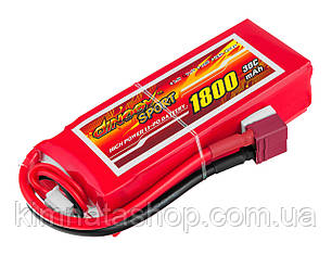 Акумулятор Dinogy Li-Pol 1800mAh 11.1 V 3S 30C 24х35х84мм T-Plug