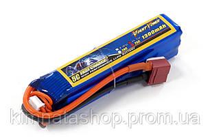 Акумулятор для страйкболу Giant Power (Dinogy) Li-Pol 11.1 V 3S 1300mAh 25C 24х20х96мм T-Plug