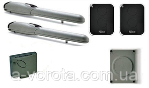 Nice Wingo 2024 KCE автоматика для распашных ворот(створка до 2м) комплект