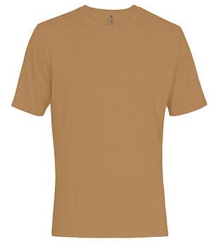 Футболка однотонная мужская, цвет темнно оранжевый, круглая горловина