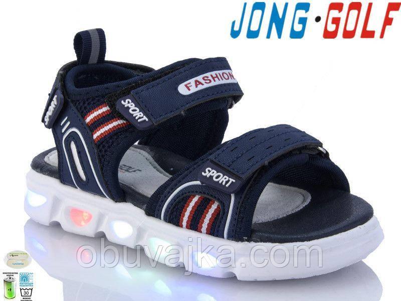 Детская летняя обувь 2021 оптом. Детские босоножки бренда Jong Golf для мальчиков (рр. с 26 по 31)