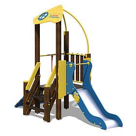Игровой комплекс желто-голубой «Чемпион-NEW»