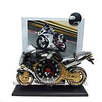 Детские рамки(фоторамки для детей) Часы -мотоцикл под металл.