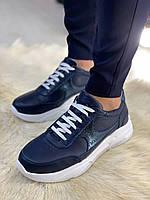 Чоловічі кросівки з натуральної шкіри RSмм6