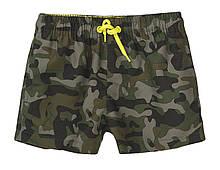 Детские подростковые пляжные шорты 3-13 лет, 98-158 см милитари Minoti 98/158 см