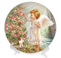 Тарілка порцелянова ОСЗ Believe in Angels 4 види 26,7 см + підставка 76804, фото 1