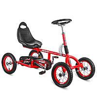 Дитячий педальний карт надувні колеса Bambi M 1697-3-2 червоний РОЗПРОДАЖ!