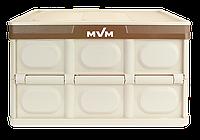 Ящик розкладний для зберігання з кришкою MVM FB-1 55L Beige 290x520x355 мм