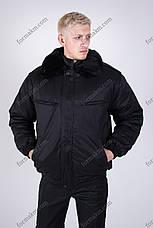 Бушлат Зимний черный для охраны, фото 2