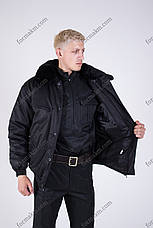 Бушлат Зимний черный для охраны, фото 3