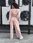 Женский спортивный костюм - тройка, трикотаж, р-р универсальный 42-46 (бежевый), фото 3