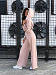 Женский спортивный костюм - тройка, трикотаж, р-р универсальный 42-46 (бежевый), фото 5