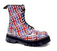Ботинки STEEL 105/106/0 FLUS ботинки 10 дыр. Британия (кожа, стальной носок, черевики, шкіра)