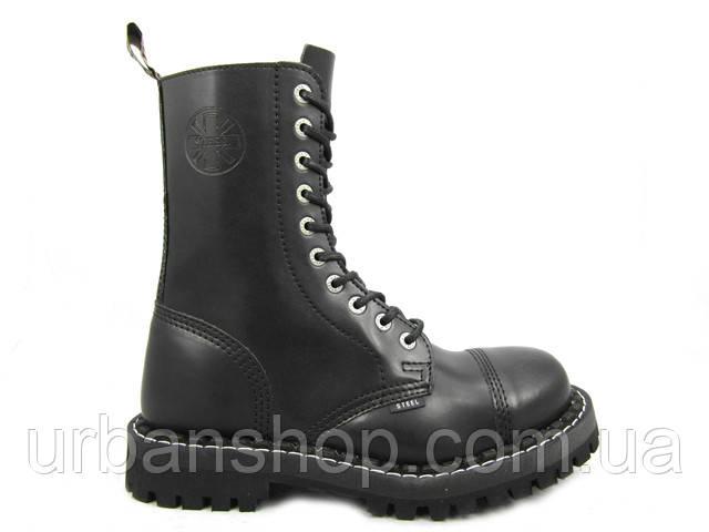 Черевики STEEL 105/106/0 10 дир чорні. Розміри :  -46. (Шкіра, сталевий носок, черевики, шкіра)