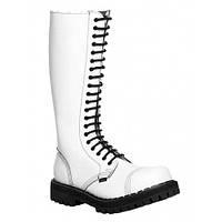 Ботинки STEEL 139/0 FULL WHITE ботинки 20 дыр.белые (кожа, стальной носок, шкіра, черевики)