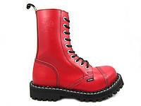 Ботинки STEEL 105/106/0 FULL RED 10 дыр.красные (кожа, стальной носок, черевики, шкіра)