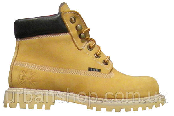 f4172309bd0f Ботинки STEEL 052 38 O-YEL 6 дыр. жёлтые (кожа, зимняя обувь ...