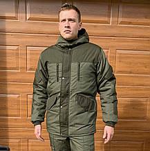 Камуфляжний костюм зимовий Гірка (штани олива фліс)