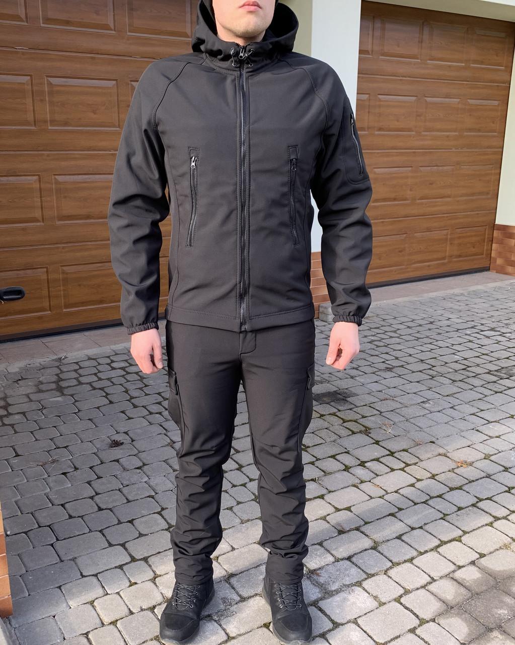 Тактична Костюм! Куртка + Штани Soft Shell хакі непромокальний!