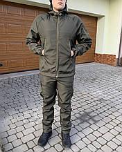 Тактическая Костюм Дюспо!  Куртка + Штаны  Олива непромокаемый